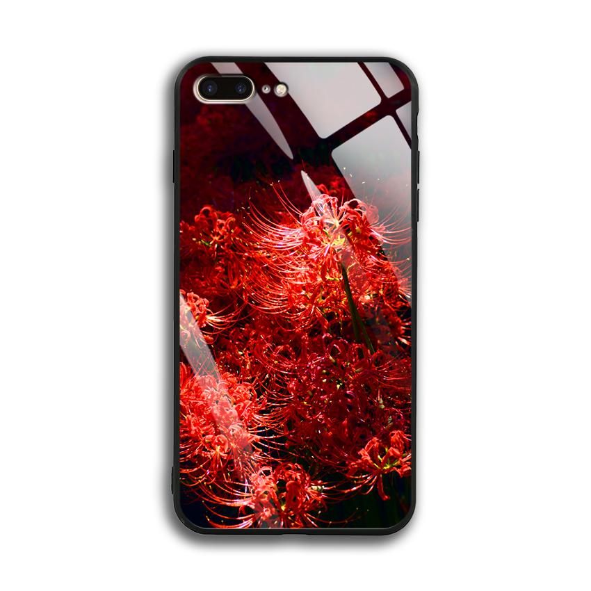 Ốp Lưng Kính Cường Lực cho điện thoại Apple Iphone 7 Plus / 8 Plus - 03004 0592 HOABINGAN03 - In hình Hoa Bỉ Ngạn - Hàng...