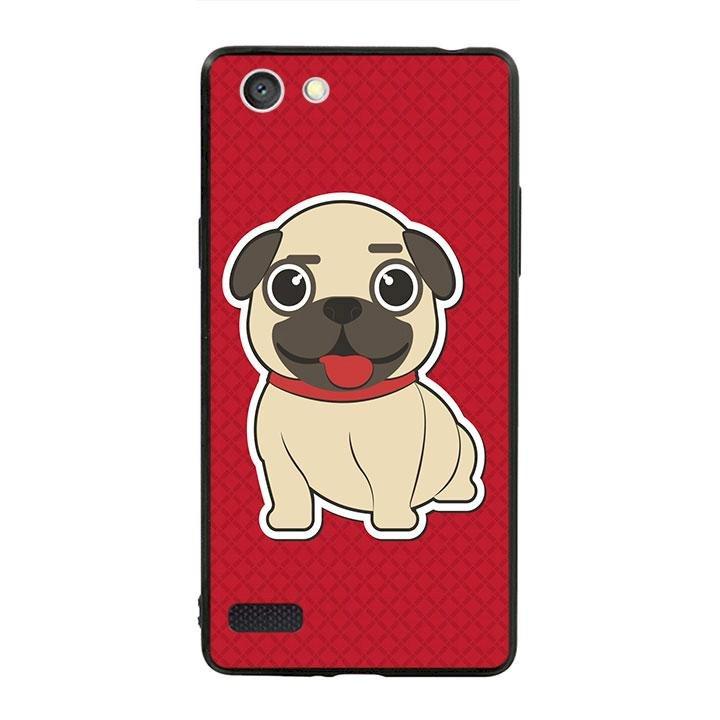Ốp lưng viền TPU cho dành cho Oppo Neo 7 - Cute Dog 01