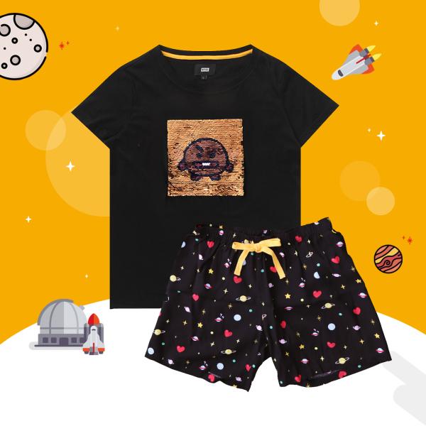 BT21 x HUNT Spangle Pajama Set Shooky HILO91101T - 2325340 , 8583812693742 , 62_14994688 , 1563000 , BT21-x-HUNT-Spangle-Pajama-Set-Shooky-HILO91101T-62_14994688 , tiki.vn , BT21 x HUNT Spangle Pajama Set Shooky HILO91101T