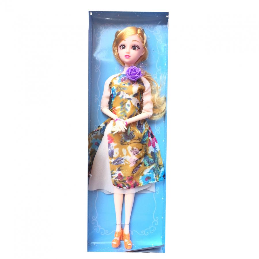Búp bê áo dài hoa có khớp cao 30cm hàng Việt Nam