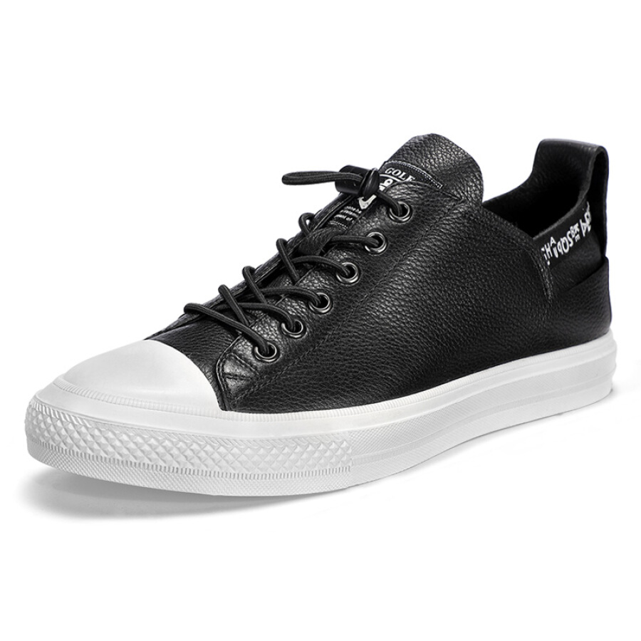 Golf (GOLF) youth high school students flat elastic belt low to help the trend of comfortable wild casual shoes male GM1809200 black 38