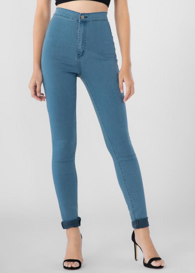 Quần Jeans Nữ Lưng Cao Bigsize A91 JEANS 814 (Xanh nhạt)
