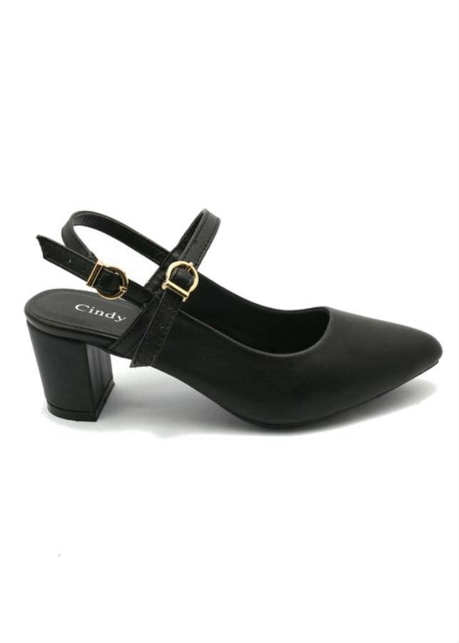Giày Sandal Nữ Cao Gót Công Sở Cindydrella C142D - Đen