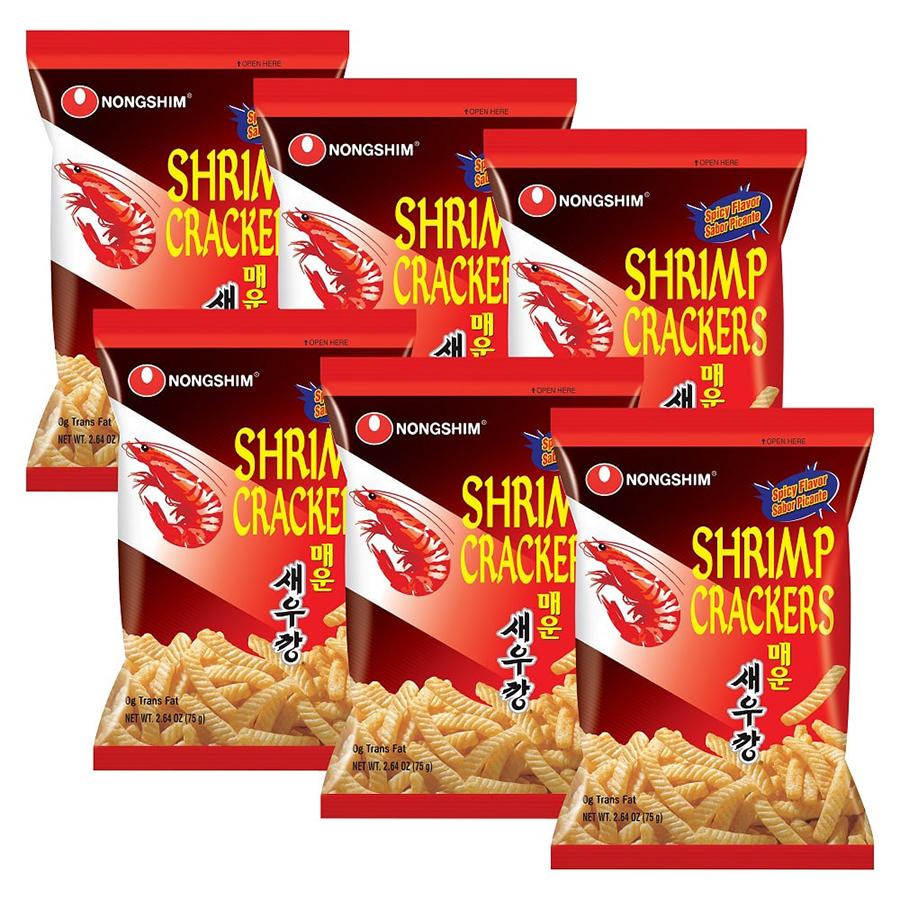Combo 6 Gói Bánh Snack Tôm Cay Nongshim (75g / Gói)