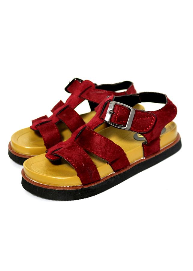 Giày sandal nữ quai ngang thời trang T136K235 - Đỏ