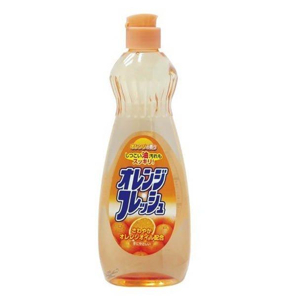 Chai nước rửa bát chén hương cam 600ml Rocket nội địa Nhật Bản
