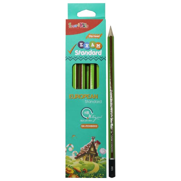 Hộp 12 Bút Chì Đen SMARTKIDS Exam Standard HB SK-PCHB002 - Xanh Dương (21.2 x 4.6 x 1.5 cm)