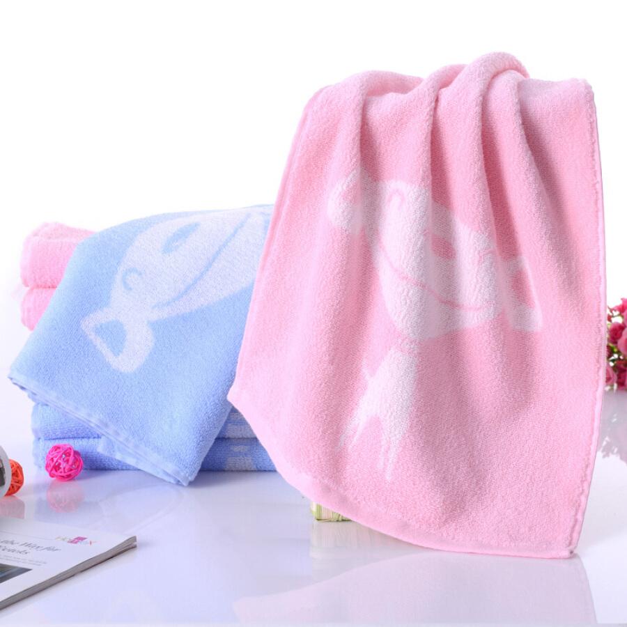 Khăn Mặt Cotton Yaguang JOY (33cm x 72cm) - Xanh/ Hồng