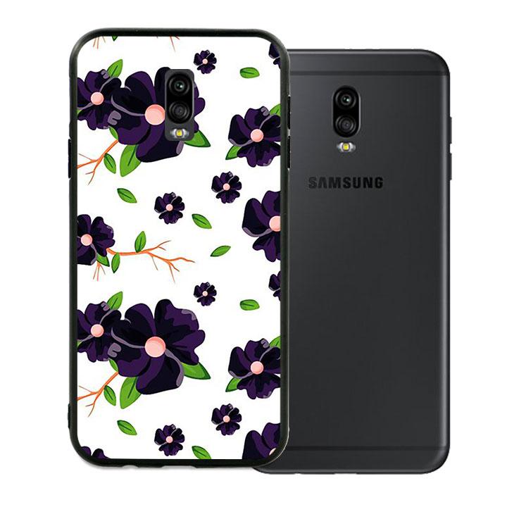Ốp lưng viền TPU cho Samsung Galaxy J7 Plus - Rose 02