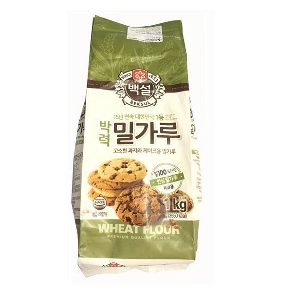Bột Mỳ Làm Bánh Bông Lan, Bánh Nướng Beksul 1Kg- Nhập Khẩu Hàn Quốc