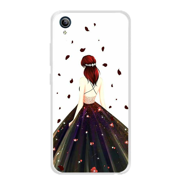 Ốp lưng dẻo cho điện thoại Vivo Y91C - 0106 GIRL03 - Hàng Chính Hãng