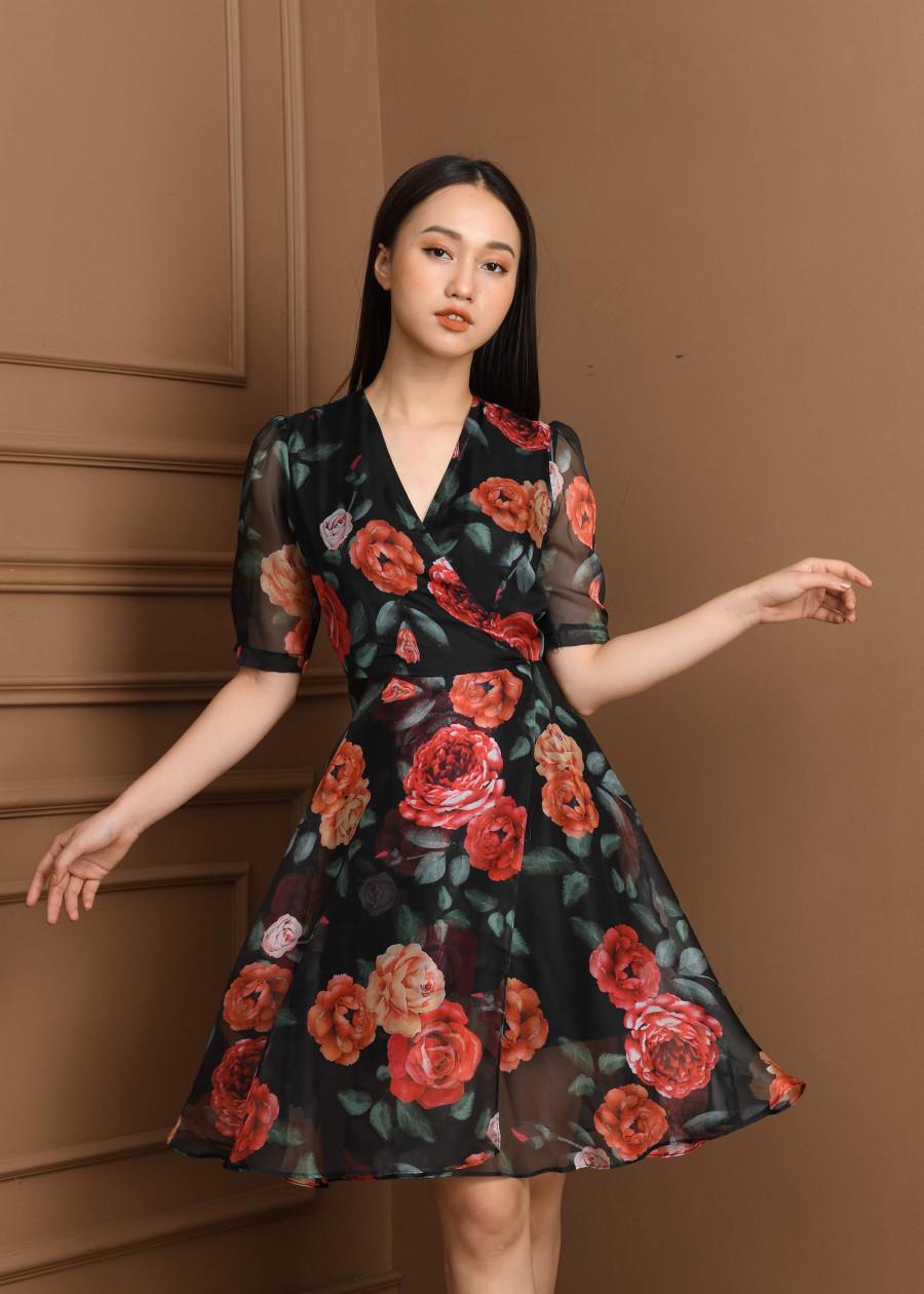 Váy voan tơ Nhật  VF2019011