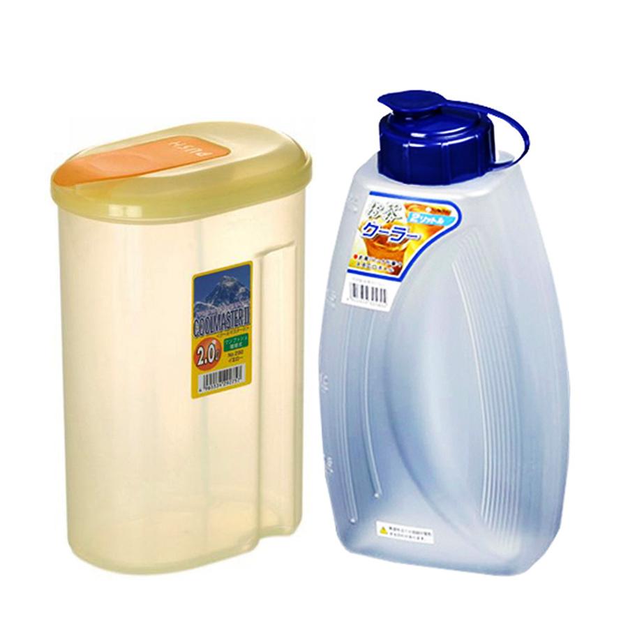 Combo Bình đựng nước 2L + Bình đựng nước 2L - Vàng nội địa Nhật Bản