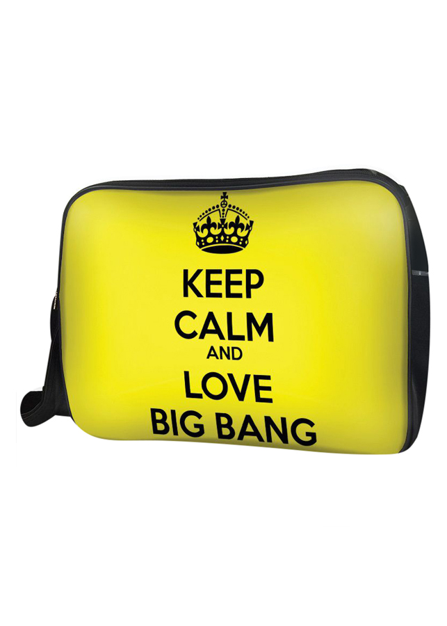 Túi Đeo Chéo Hộp Unisex Keep Calm And Love Big Bang - TCKK068