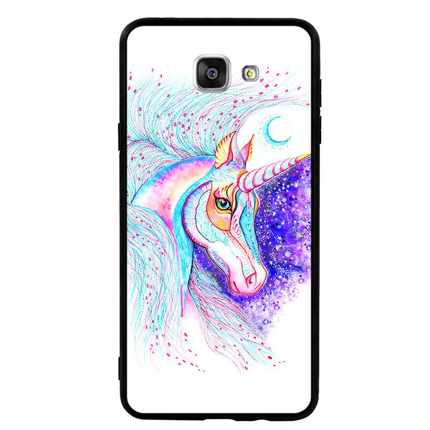 Ốp lưng nhựa cứng viền dẻo TPU cho điện thoại Samsung Galaxy A9 - Horse 01