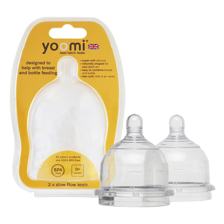 Núm Ty Silicon Siêu Mềm Yoomi - Cho Trẻ Từ 0 Tháng Tuổi (Vỉ Đôi)