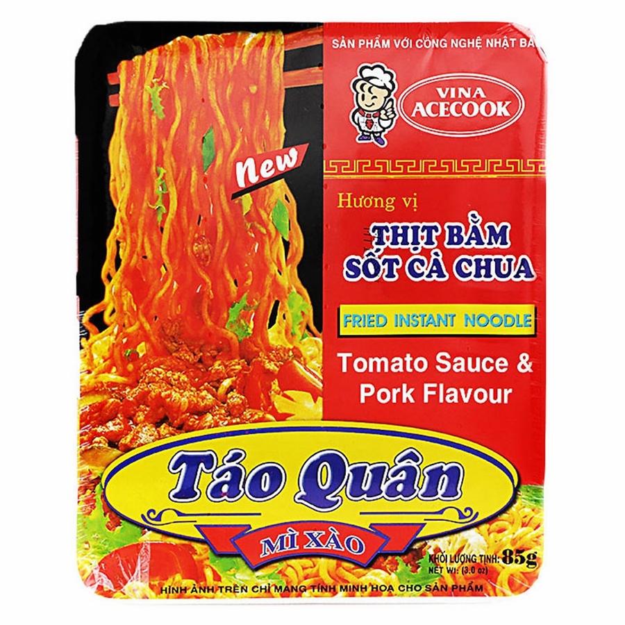 Khay Mì Táo Quân Hương Vị Thịt Bằm Sốt Cà Chua Acecook (85g)