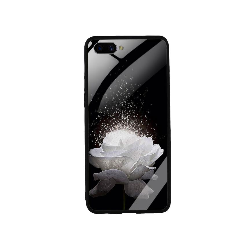 Ốp Lưng Kính Cường Lực cho điện thoại Oppo A3s -  0324 ROSE03