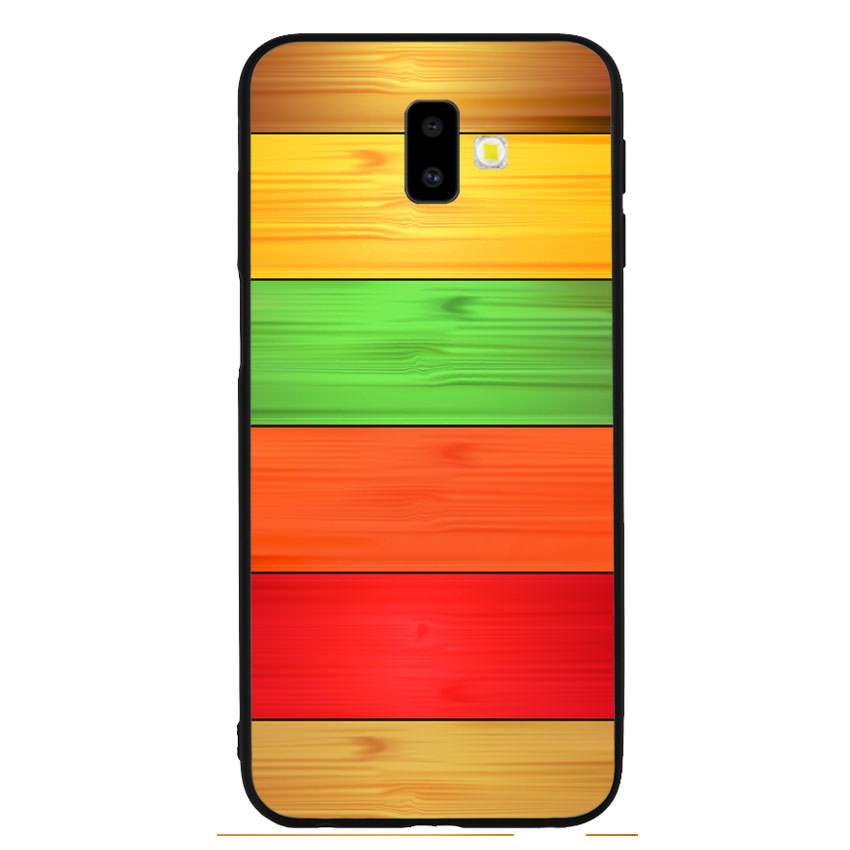 Ốp lưng nhựa cứng viền dẻo TPU cho điện thoại Samsung Galaxy J6 Plus - Sắc Màu