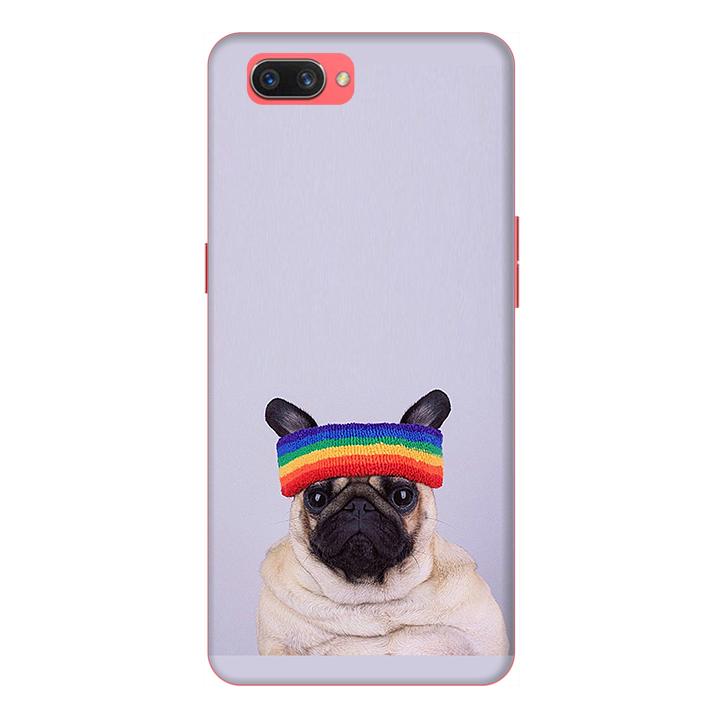 Ốp lưng cho điện thoại Realme C1 hình Cún Cưng Đội Nón Mẫu 1