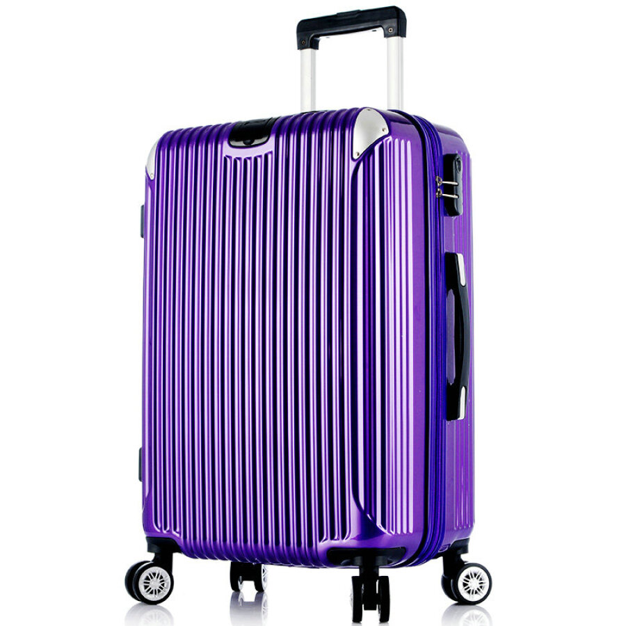 Puneida (PRNEID) aluminum wrap trolley case caster luggage suitcase for men and women to board the chassis 20 inches purple