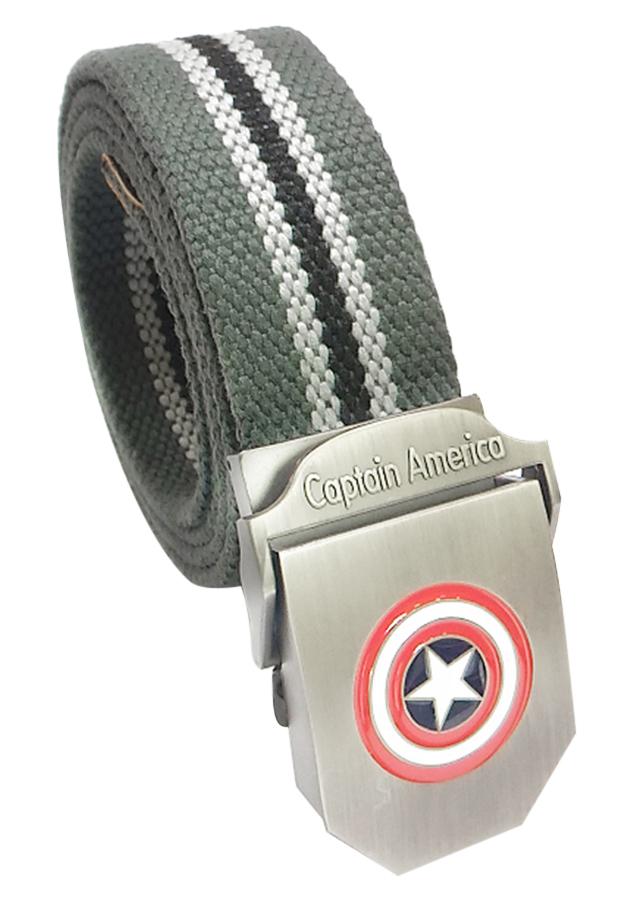 Thắt Lưng Vải Dù Nữ Mặt Khoá Hợp Kim Mặt Captain America - Màu 18