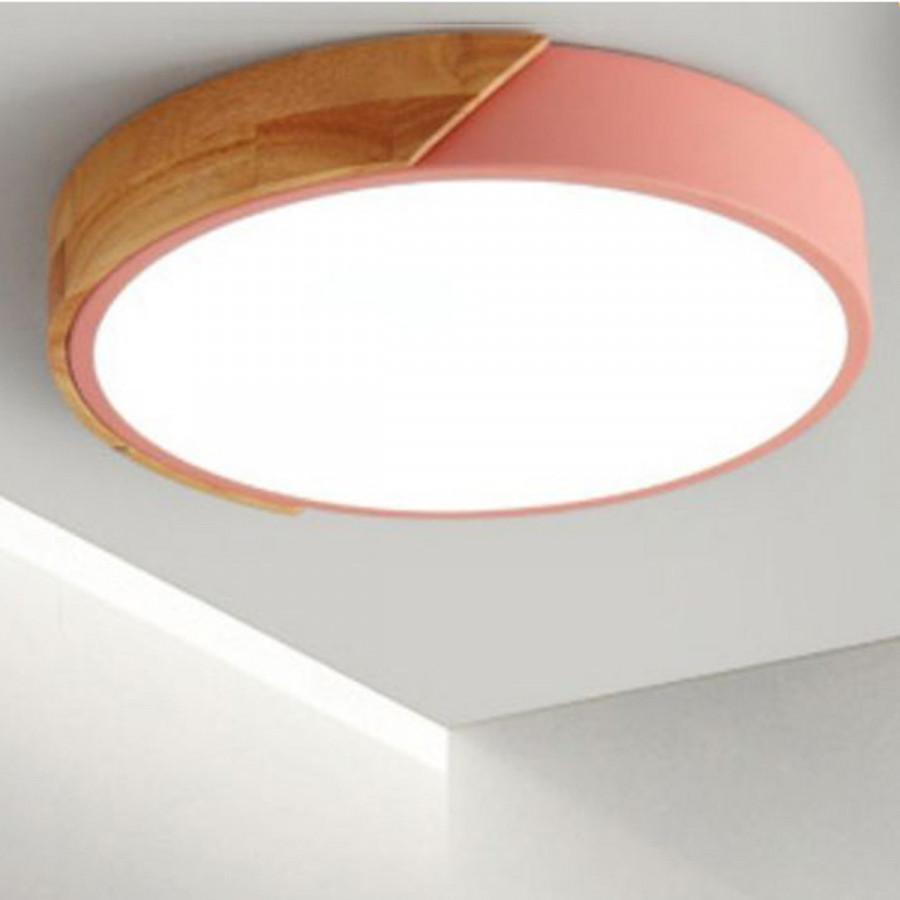 Đèn ốp trần phòng khách trang trí LED ốp gỗ - Đèn trần LIGHTING