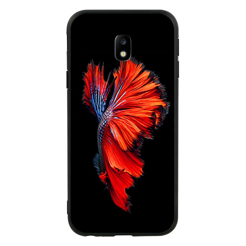 Ốp lưng viền TPU cho Samsung Galaxy J3 Pro 2017 - Fish 01