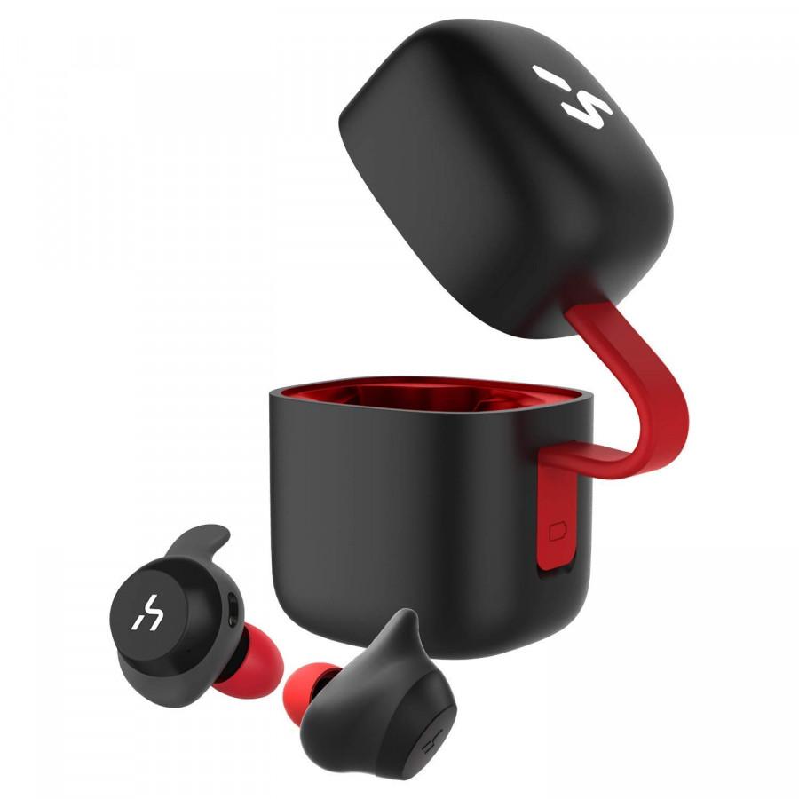 Tai nghe không dây Havit G1 TWS  gồm sạc không dây, chống nước IPX5, Bluetooth 5.0 (Màu đỏ đen)