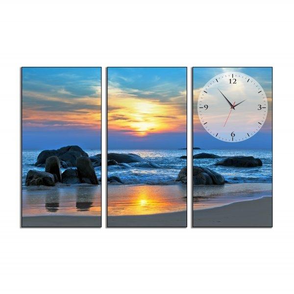 Tranh đồng hồ in Canvas Sóng vỗ về bờ đá - 3 mảnh - 7073272 , 8543801633173 , 62_10353422 , 707500 , Tranh-dong-ho-in-Canvas-Song-vo-ve-bo-da-3-manh-62_10353422 , tiki.vn , Tranh đồng hồ in Canvas Sóng vỗ về bờ đá - 3 mảnh