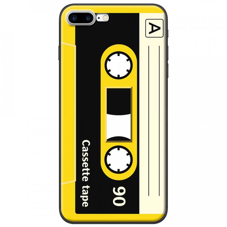 Ốp lưng dành cho iPhone 7 Plus mẫu Cassette vàng