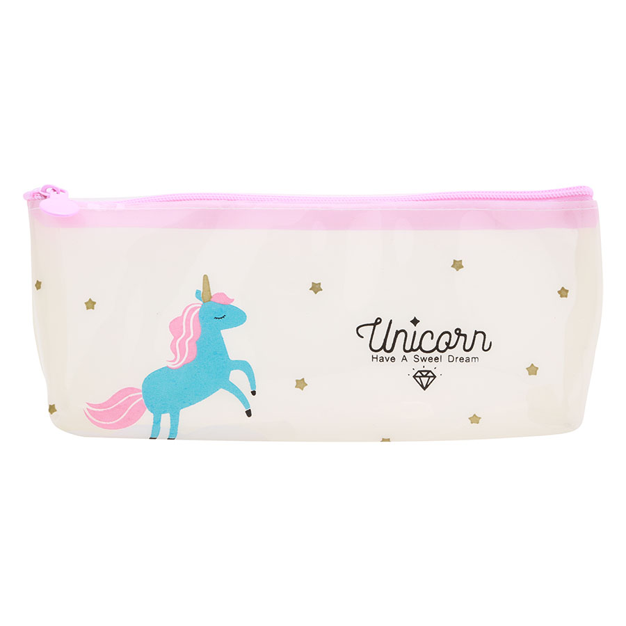 Bóp Viết Trong Suốt Unicorn Kỳ Lân
