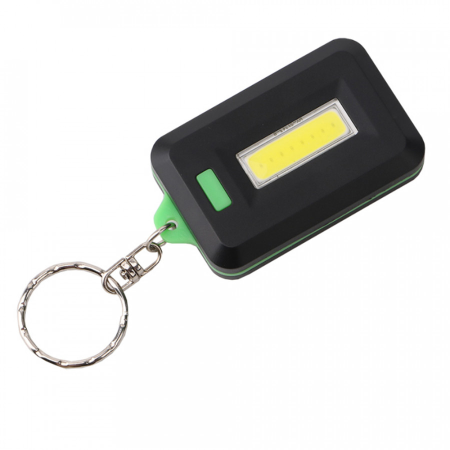 Mini Keychain Flashlight COB LED Key Ring Flash Light Small Lamp Torch Outdoor Portable Pocket Emergency Light