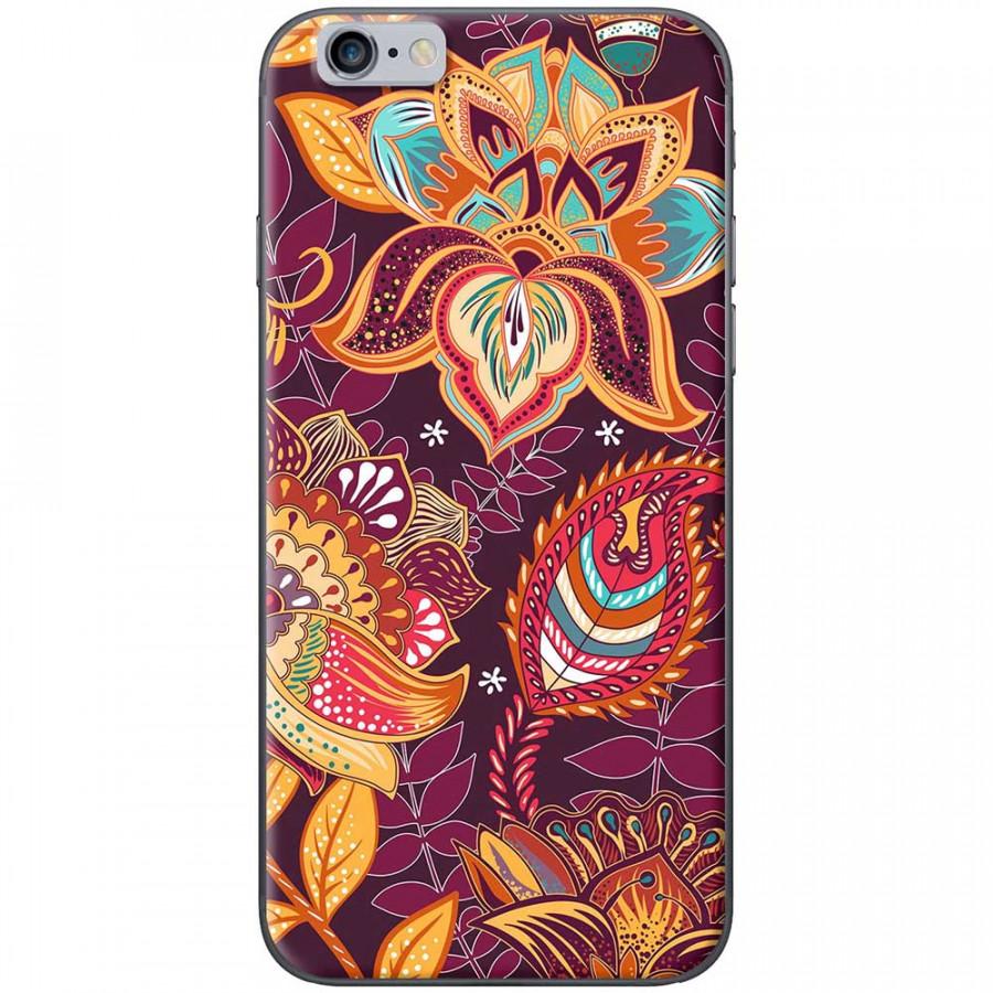 Ốp lưng dành cho iPhone 6 Plus, iPhone 6S Plus mẫu Hoa văn hoa sen lá tím