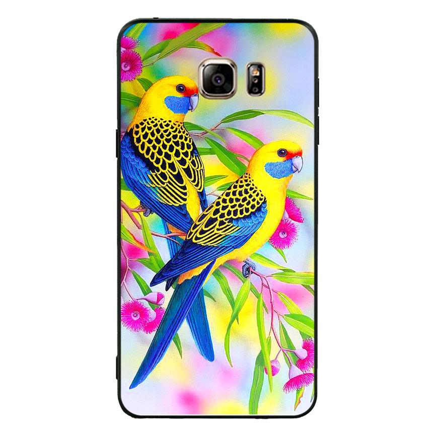 Ốp lưng nhựa cứng viền dẻo TPU cho điện thoại Samsung Galaxy Note 5 - Couple Bird