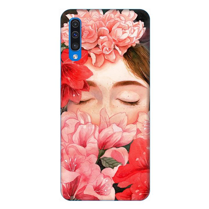 Ốp lưng dành cho điện thoại Samsung Galaxy A50 hình Cô Gái Hoa Hồng - Hàng chính hãng