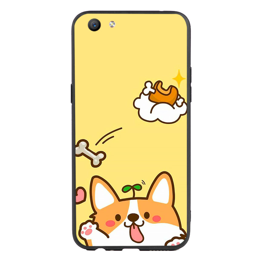 Ốp lưng nhựa cứng viền dẻo TPU cho điện thoại Oppo F3 - Cute 09