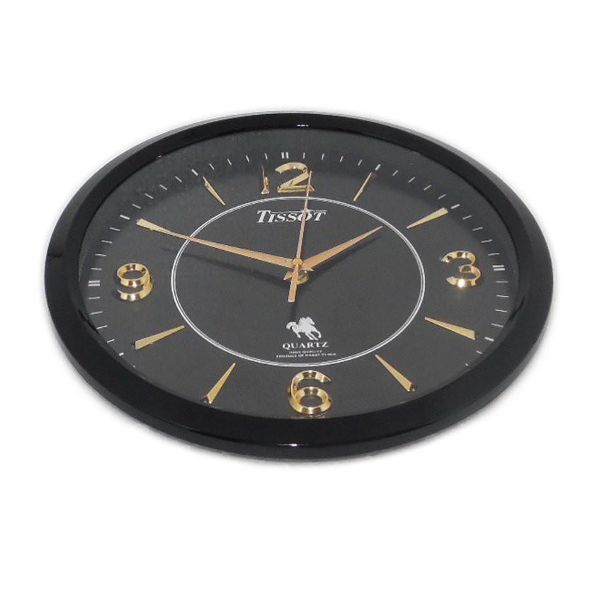 Đồng hồ treo tường S8 (Đen)+ Tặng máy đồng hồ