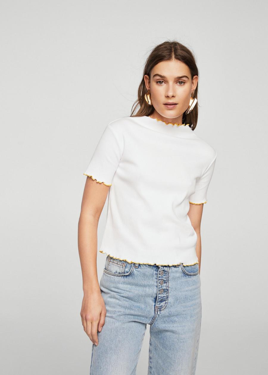 Áo Thun Nữ T-shirt Iris-H Mango 23003665 - Mã Màu 1