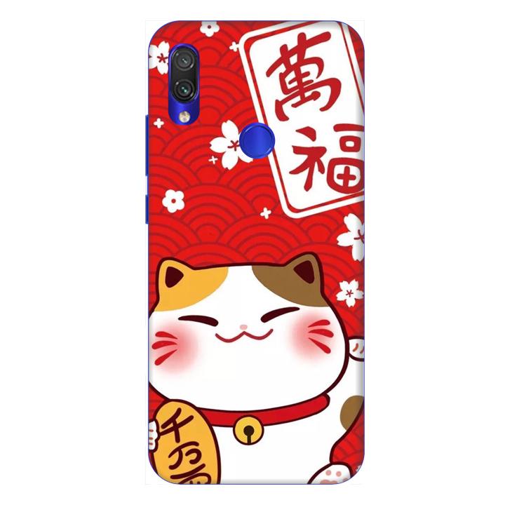 Ốp lưng dành cho điện thoại Xiaomi Redmi Note 7 hình Mèo May Mắn Mẫu 4 - Hàng chính hãng
