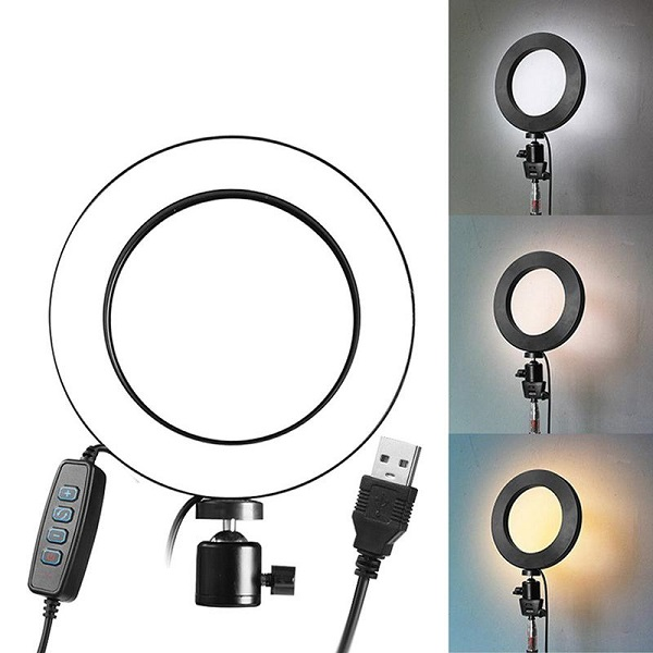 Bóng Đèn Led tròn LiveStream Ø 16CM ✓ Trang điểm ✓ Chụp ảnh ✓ Xăm nghệ thuật ✓ SIêu sáng ✓ Có nút chỉnh 3 chế...
