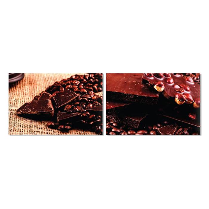 Bộ 2 Tranh Treo Tường Quán Cà Phê Coffee And Chocolate - W012