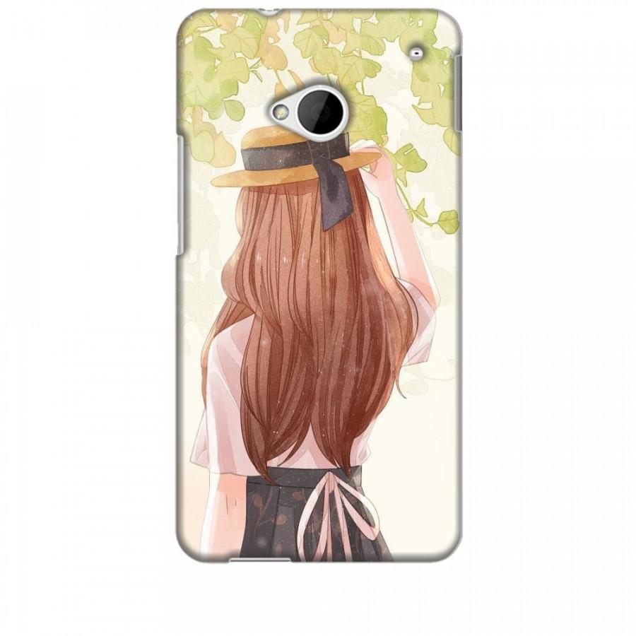 Ốp lưng dành cho điện thoại HTC M7 Phía Sau Một Cô Gái