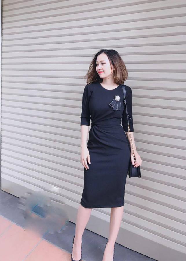 5256756072555 - Váy đầm thiết kế xoắn eo giấu bụng đủ màu