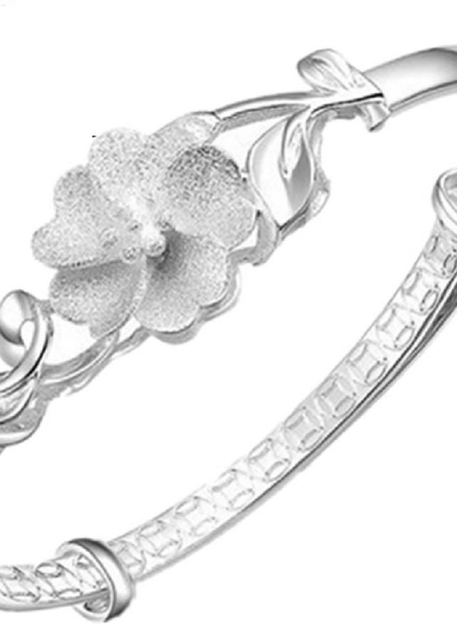 vòng tay mạ bạc 925 bông hoa phong cách sang trọng-vt211