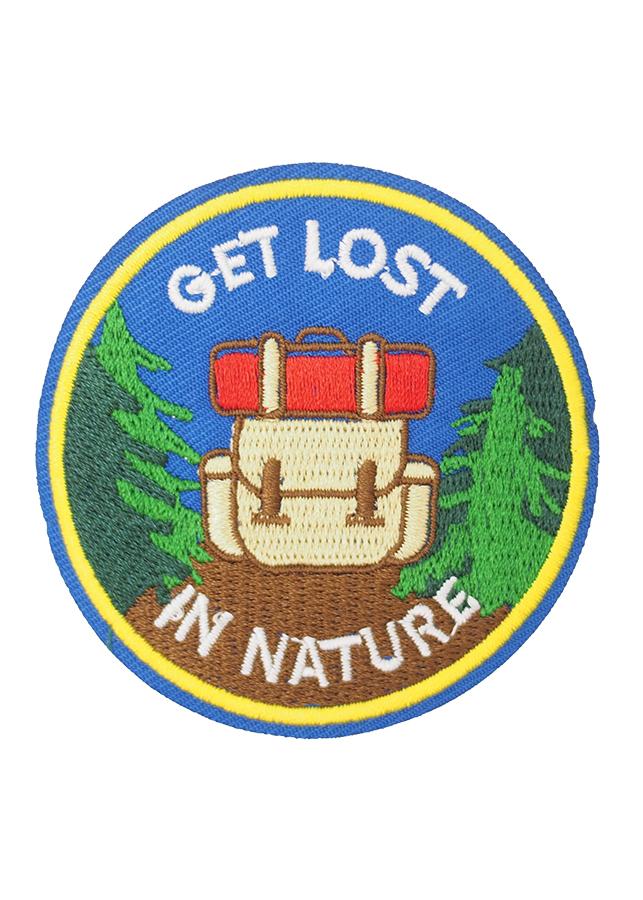 Get Lost in Nature nền xanh - Patch ủi sticker vải