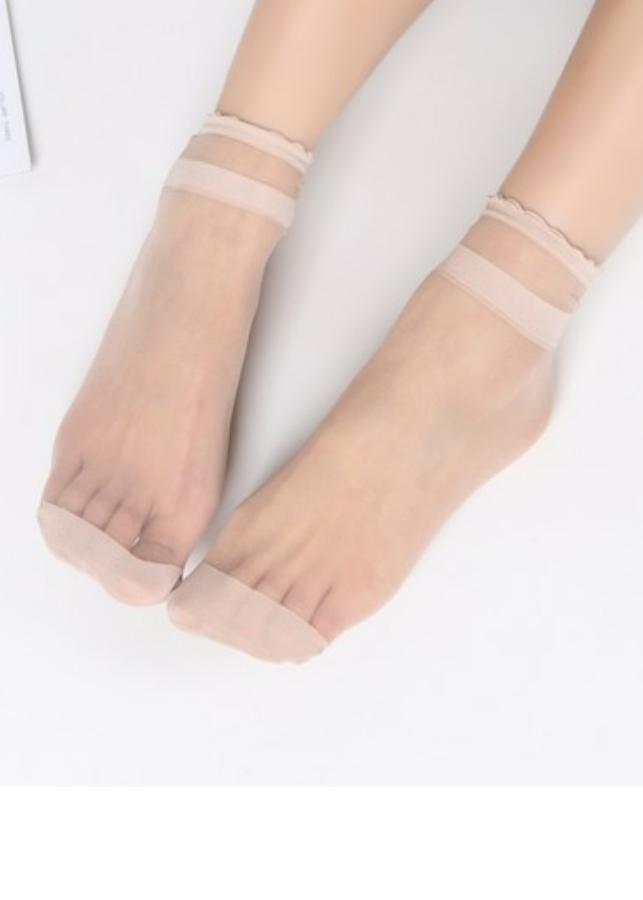 Set 10 đôi tất da chân cổ ren co giãn tốt - Giao màu ngẫu nhiên