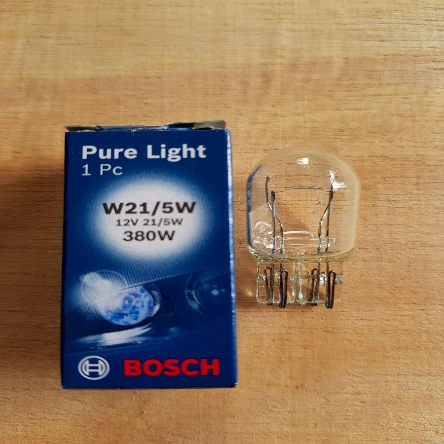 Bóng đèn hậu Hallogen_Bosch W21/5W 12V_2 Tim (1 hộp/ 10 bóng)