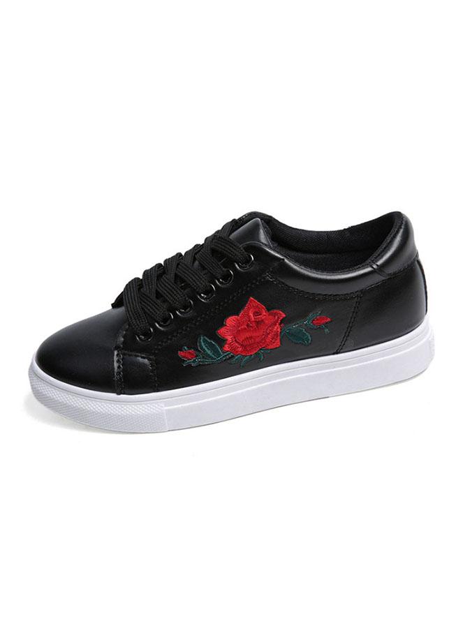 Giày thời trang nữ chống thấm thêu hoa hồng Rozalo RM5123