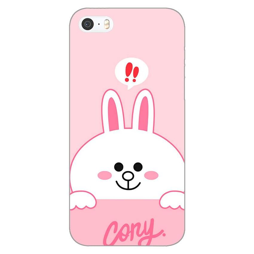 Ốp lưng dẻo cho Apple iPhone 5 / 5s _Thỏ Cony
